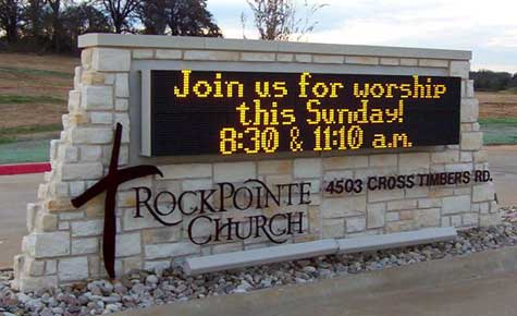 RockPointe Church Monument LED